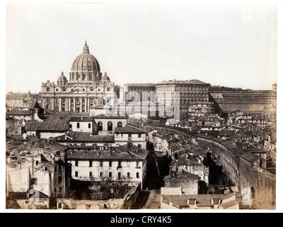 The Vatican, ca 1854, by Pietro Dovizielli - Stock Image