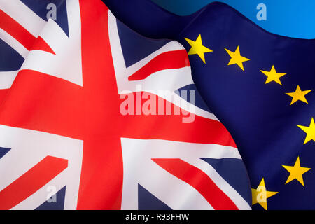 BREXIT - The United Kingdom departs from the European Union. - Stock Image