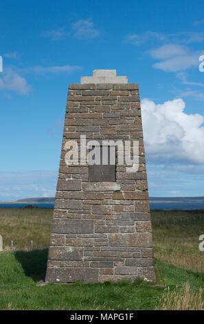 St Magnus Cenotaph, Egilsay, Orkney - Stock Image