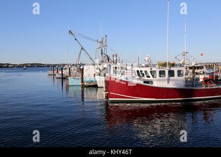 Provincetown Marina, Provincetown, MA, USA - Stock Image