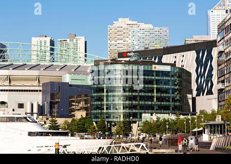 The Bendigo Bank Corporate Office in Melbourne Docklands,Victoria Australia. - Stock Image