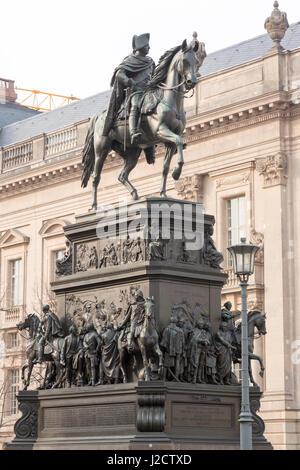 Germany, Berlin. Statue of Frederick the Great on horseback at Humboldt University. Credit as: Wendy Kaveney / Jaynes - Stock Image