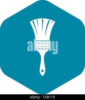 Brush icon, simple style - Stock Image