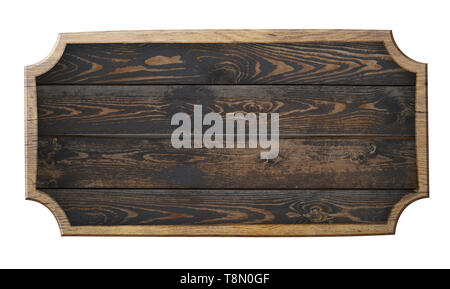old wooden sign isolated 3d illustration - Stock Image