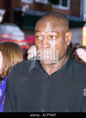 Franklin Ray Bruno former WBC Heavyweight boxing champion turns on the Christmas lights in the small village of - Stock Image
