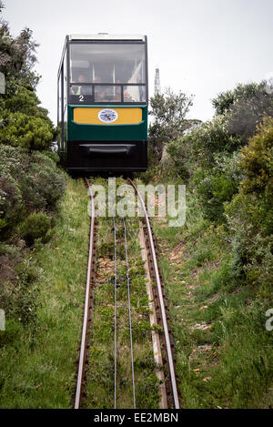 Car 2 'Thomas T. Tucker' of 'The Flying Dutchman' funicular railway near the Car Park station at - Stock Image