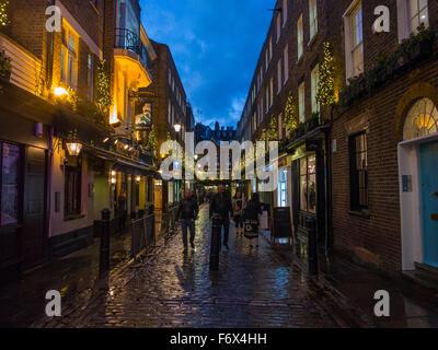 Carnaby Street Christmas lights - Stock Image
