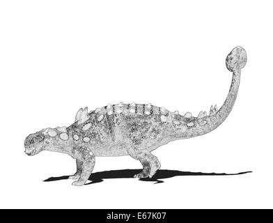 Dinosaurier Euoplocephalus / dinosaur Euoplocephalus - Stock Image