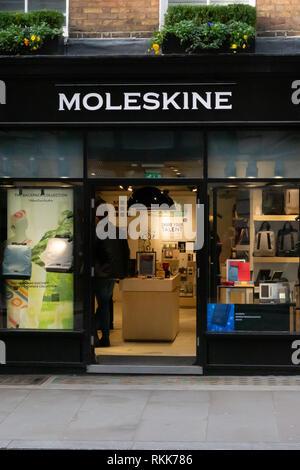 Moleskine store in Covent Garden in London - Stock Image