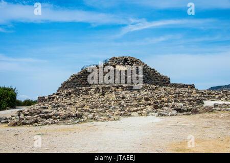 Su Nuraxi, Nuragic archaeological site in Barumini, UNESCO World Heritage Site, Sardinia, Italy, Europe - Stock Image