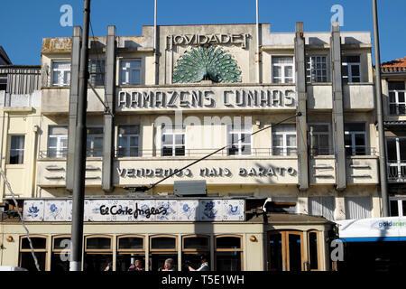 Exterior facade of Armazens Cunhas department store building in Praça de Gomes Teixeira Square in the city of Porto Portugal Europe KATHY DEWITT - Stock Image