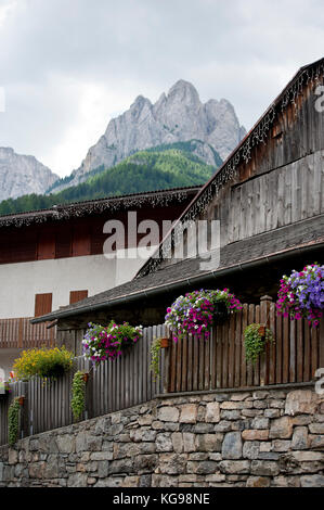 Lovely place on the mountain Pozza di Fassa - Stock Image