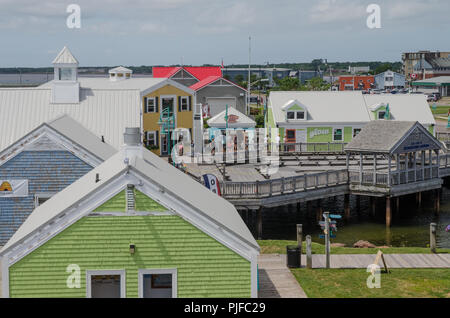 The seaside market of Spinnaker's Landing, Summerside, PEI. - Stock Image