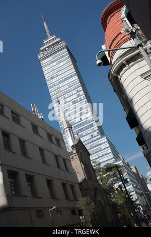 Latinoamericana Tower Mexico City - Stock Image