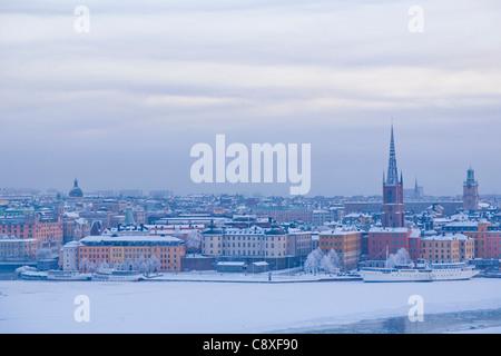 View towards Riddarholmen, Stockholm, Sweden - Stock Image