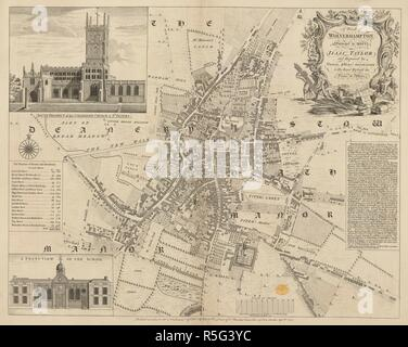 A Plan of Wolverhampton. A Plan of Wolverhampton, surveyed in 1750. 1751. Source: Maps K.Top.38.48. Language: English. Author: Jefferys, Thomas. - Stock Image