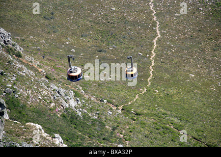 Table Mountain Cableway, Cape Town, Western Cape Province, South Africa. - Stock Image