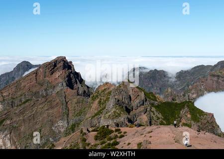 Portugal, Madeira Island, Pico do Arieiro - Stock Image