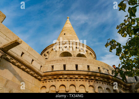 Exterior view of the Fisherman's Bastion at Budapest, Hungary - Stock Image