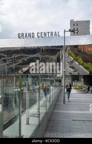 Exterior of Grand Central Station, Birmingham UK - Stock Image