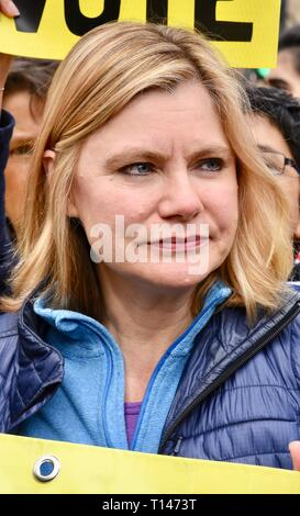 23rd March, 2019. Justine Greening, Conservative MP for Putney, People's Vote March, Whitehall, London. UK Credit: michael melia/Alamy Live News - Stock Image