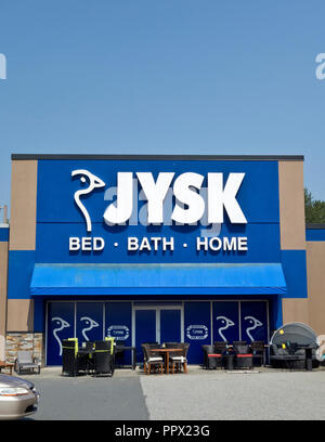 JYSK furniture store in Metro Vancouver, Canada - Stock Image