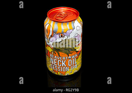 Beavertown Beer Neck Oil Session IPA Can - Stock Image