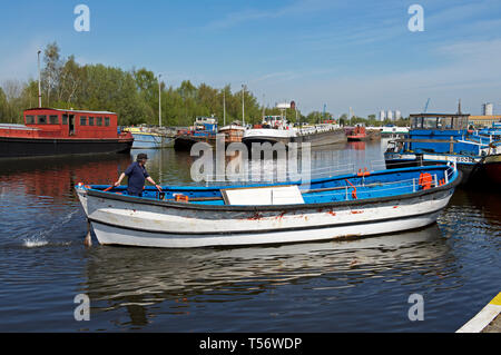 Goole Marina, Goole, East Yorkshire, England UK - Stock Image