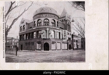 Barnum Institute of Science and History, Bridgeport, Connecticut, USA. Now a Museum celebrating the life and craeer of P. T. Barnum.     Date: circa 1908 - Stock Image