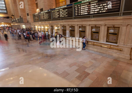 Ticket office, Main Concourse, Grand Central Terminal, Manhattan, New York, USA - Stock Image