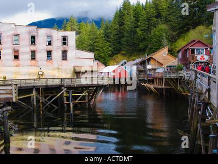 Ketchikan  Alaska seaport shops - Stock Image