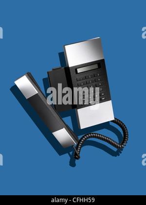 A modern stylish land line telephone - Stock Image