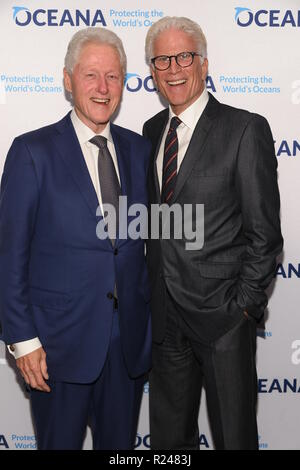 OCEANA honors Morgan Freeman and Sam Waterston at their New York Gala at the Rainbow Room in NYC  Featuring: Bill Clinton, Ted Danson Where: Manhattan, New York, United States When: 13 Oct 2018 Credit: Rob Rich/WENN.com - Stock Image