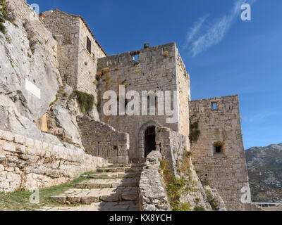 Klis Fortress near Split, Croatia - Stock Image
