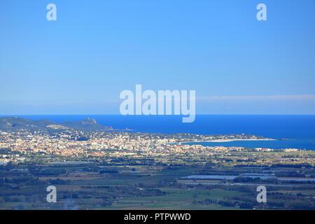 Top view above Saint Raphael, Var, 83, PACA, France - Stock Image