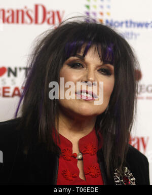 Women's Day celebrates 16th Annual Red Dress Awards held at The Appel Room at Frederick P. Rose Hall, at the Lincoln Center  Featuring: Ann Wilson Where: New York, New York, United States When: 12 Feb 2019 Credit: Derrick Salters/WENN.com - Stock Image