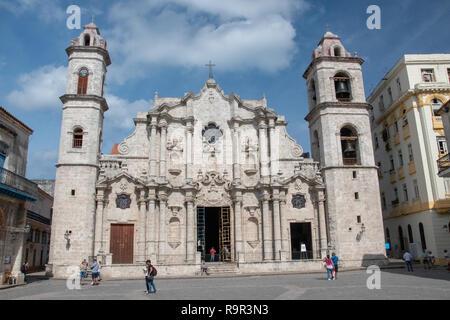 Havana Cathedral (Cathedral de San Cristobal) in Plaza de la Catedral on Calle Empedrado, between San Ignacio y Mercaderes, Habana Vieja. Christopher  - Stock Image