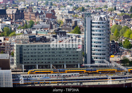 Amsterdam, Netherlands, Ibis Hotel at  Amsterdam Central Station, Amsterdam Centraal, - Stock Image