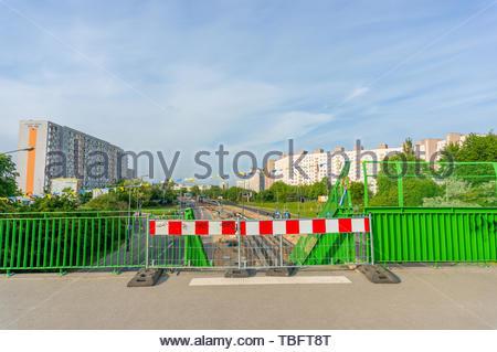 Poznan, Poland - May 24, 2019: Closed entrance to - Stock Image