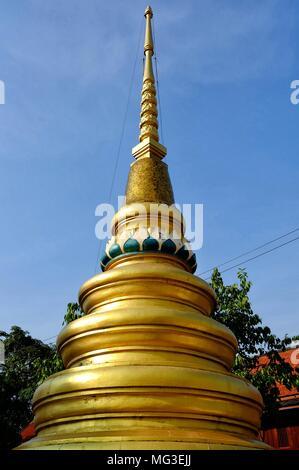 Ancient Golden Buddhist Pagoda. - Stock Image