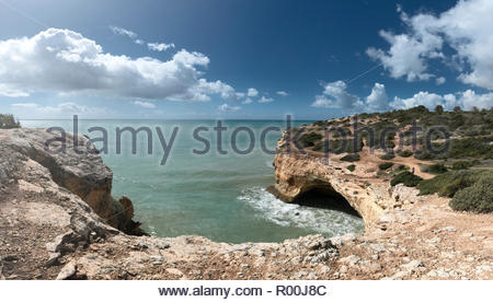 Coastal rock formations in Portugal - Stock Image