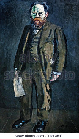 Portrait of Charles Rappoport by Kees van Dongen (Cornelis Theodorus Maria) born in 1877 was a Dutch-French painter who was one of the leading Fauves. The Netherlands, France. - Stock Image