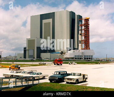 View of the Apollo 11 rollout - Stock Image