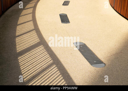Abstract view of the surface of St Alphage high walk in The City of London in London EC2 UK - Stock Image