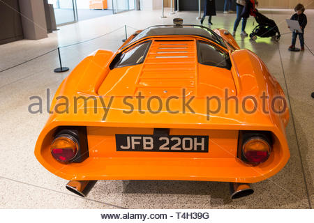 The Adams Brothers Probe 16 car at the Stanley Kubrick exhibition at the Design Museum, Kensington High Street, London, UK - Stock Image