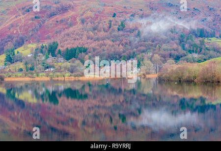 Reflections in Grasmere, Lake District, Cumbria - Stock Image