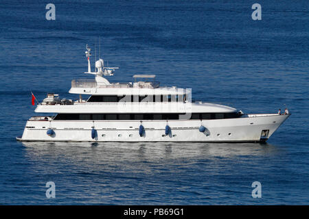 The 35m Heesen luxury yacht Alcor - Stock Image