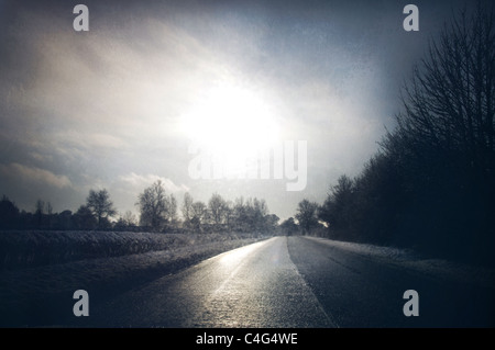mysterious road - Stock Image