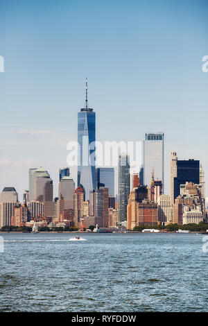 New York City skyline on a sunny day, USA. - Stock Image