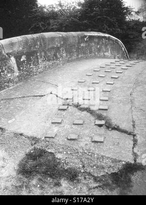 Canal bridge. - Stock Image